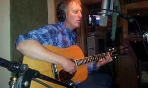 John Swaim in Backwoods Recording Studio
